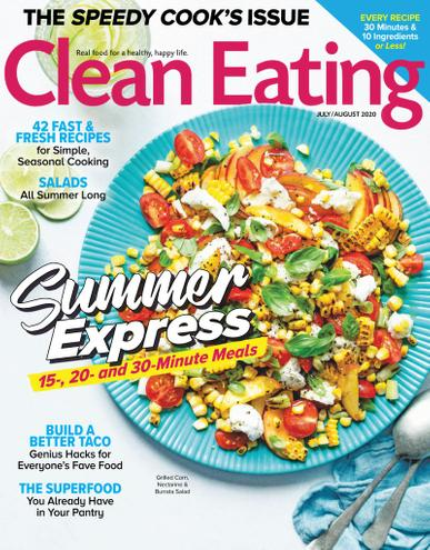 Clean Eating Magazine July 1st, 2020 Issue Cover