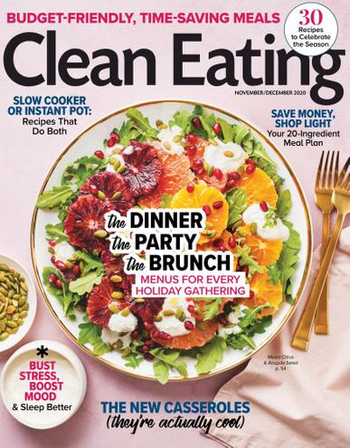 Clean Eating Magazine November 1st, 2020 Issue Cover