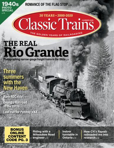 Classic Trains Magazine May 4th, 2020 Issue Cover