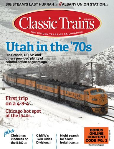 Classic Trains Magazine February 1st, 2021 Issue Cover