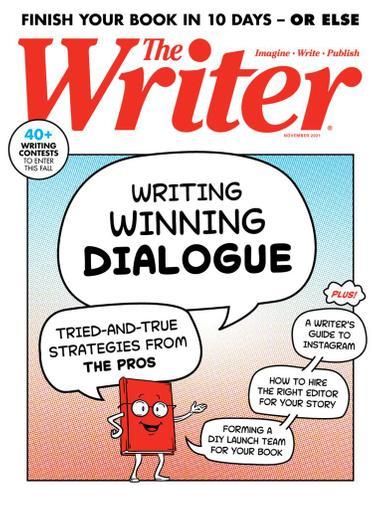 The Writer Magazine November 1st, 2021 Issue Cover