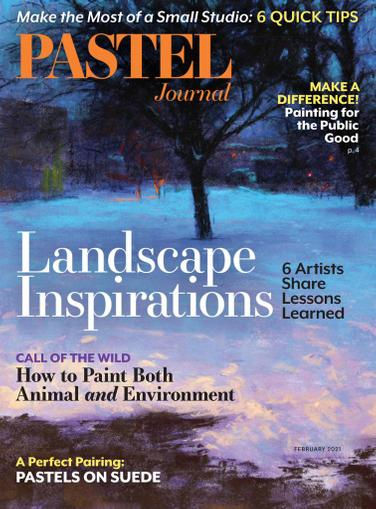 The Pastel Journal Magazine January 1st, 2021 Issue Cover