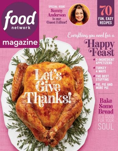 Food Network Magazine November 1st, 2020 Issue Cover