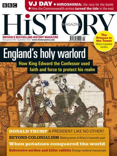 BBC History Magazine September 1st, 2020 Issue Cover