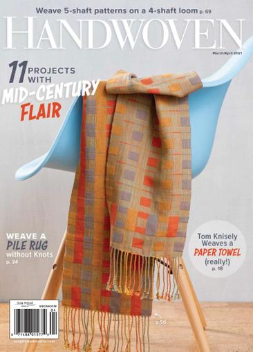 Handwoven Magazine March 1st, 2021 Issue Cover