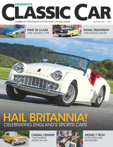 Hemmings Classic Car Magazine August 1st, 2021 Issue Cover