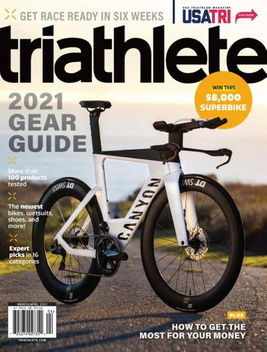 Triathlete Magazine March 1st, 2021 Issue Cover