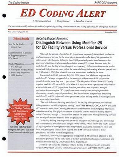 ED Coding Alert Magazine Cover