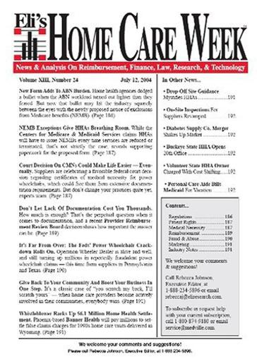 Home Care Week Magazine Cover