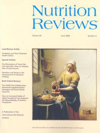 Nutrition Health Review Magazine Cover