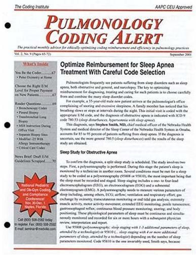 Pulmonology Coding Alert Magazine Cover