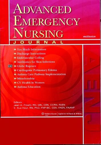 Advanced Emergency Nursing Journal Cover