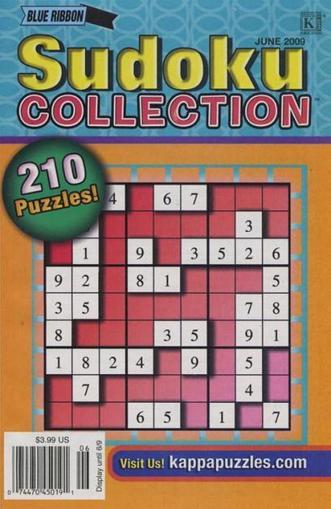 Blue Ribbon Sudoku Collection Magazine Cover