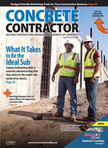 Concrete Contractor Magazine Cover