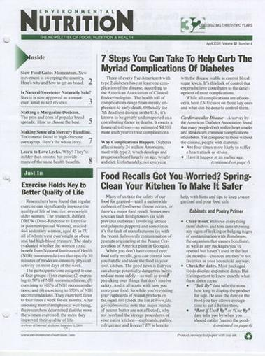 Environmental Nutrition Magazine Cover