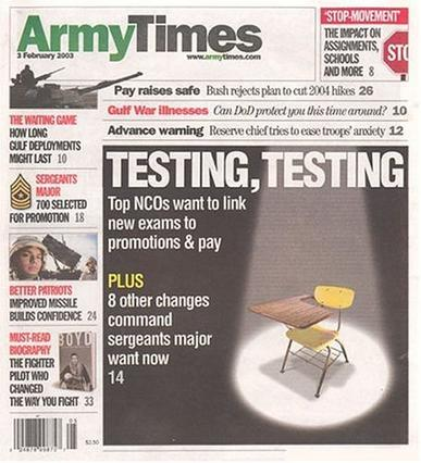Army Times Magazine Cover