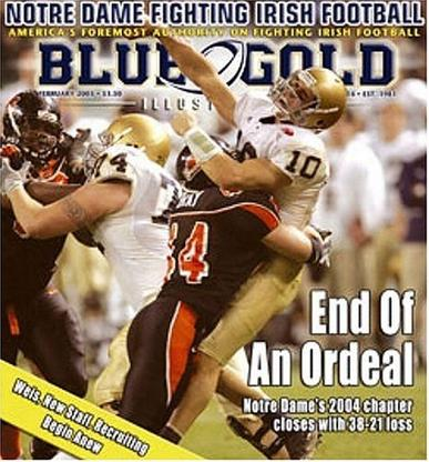 Blue & Gold Illustrated Magazine Cover