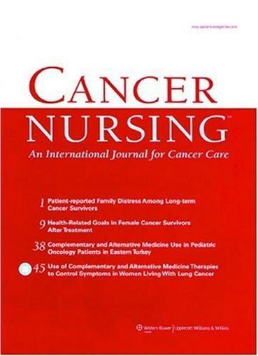 Cancer Nursing Magazine Cover
