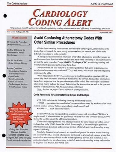 Cardiology Coding Alert Magazine Cover