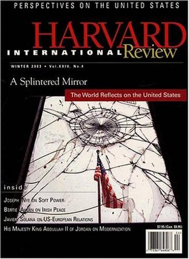 Harvard International Review Magazine Cover