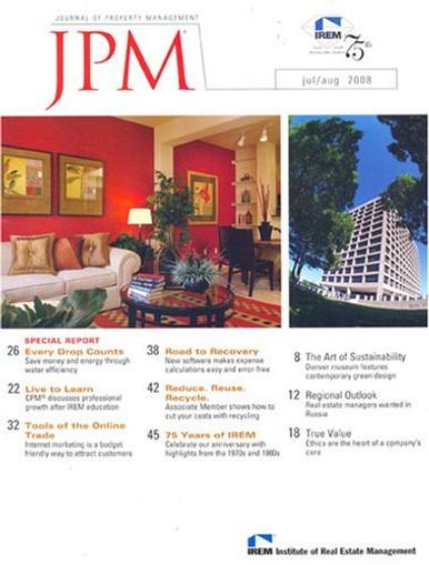 Journal Of Property Management Magazine Cover