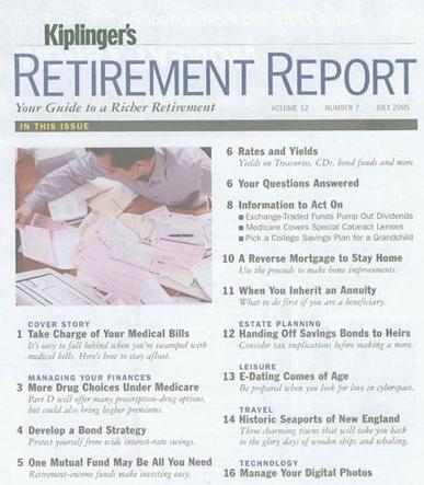 Kiplinger's Retirement Report Magazine Cover