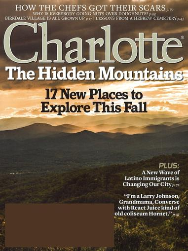 Charlotte Magazine November 1st, 2015 Issue Cover