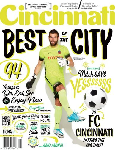 Cincinnati Magazine December 1st, 2017 Issue Cover