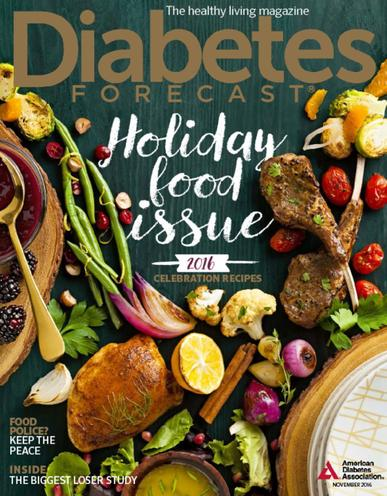 Diabetes Forecast Magazine November 1st, 2016 Issue Cover