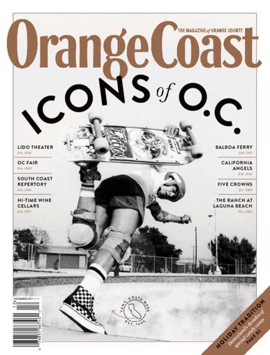 Orange Coast Magazine December 1st, 2017 Issue Cover