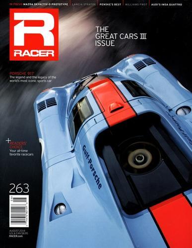 Racer Magazine Cover