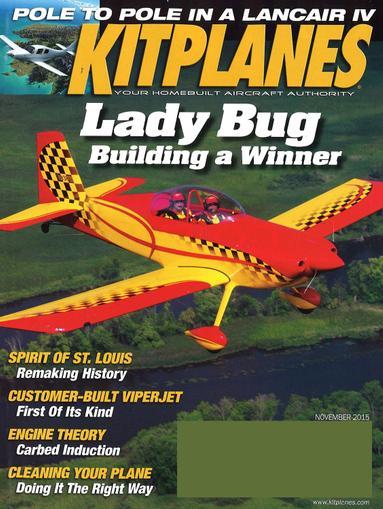 Kitplanes Magazine November 1st, 2015 Issue Cover