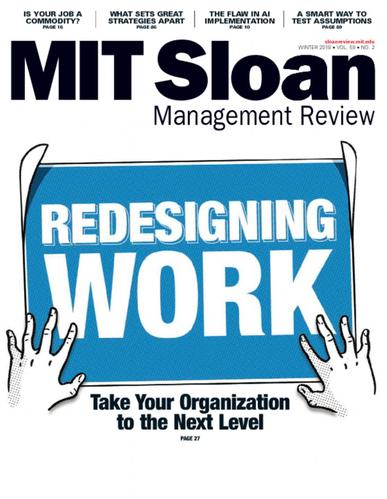 Sloan Management Review Magazine January 1st, 2018 Issue Cover