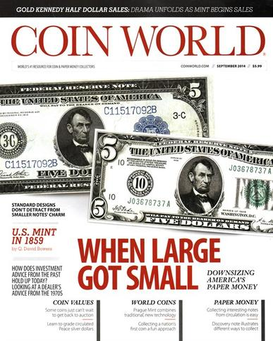 Coin World Magazine Cover