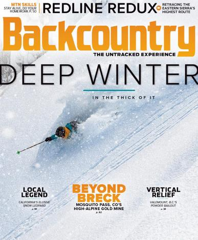 Backcountry Magazine January 1st, 2018 Issue Cover