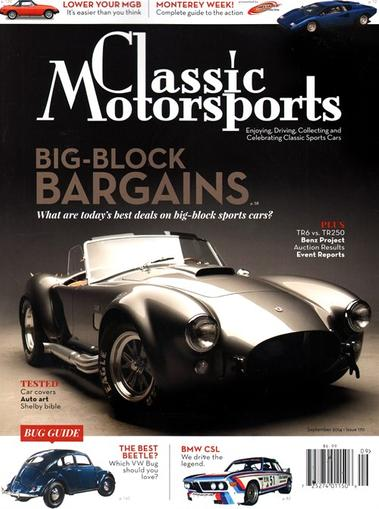 Classic Motorsports Magazine Cover