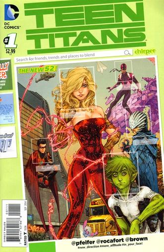 Teen Titans Magazine Cover