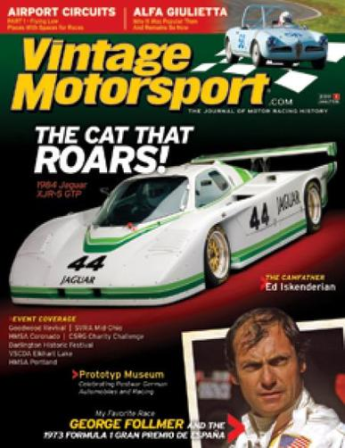 Vintage Motorsport Magazine Cover