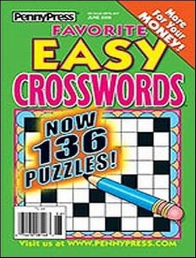 Favorite Easy Crosswords Magazine Cover