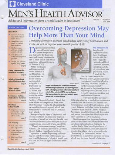 Men's Health Advisor Magazine Cover