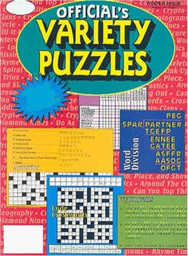 Official Variety Puzzles & Word Games Magazine Cover