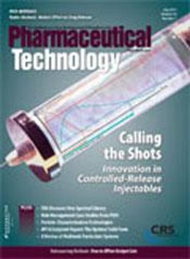 Pharmaceutical Technology Magazine Cover