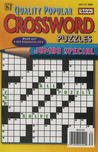 Quality Popular Crossword Puzzles Magazine Cover