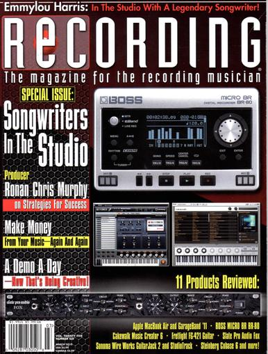 Recording Magazine Cover