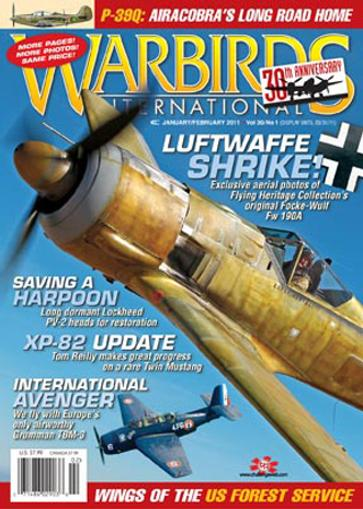 Warbirds Int'l Magazine Cover