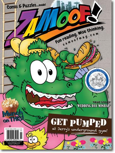 Zamoof! Magazine Cover